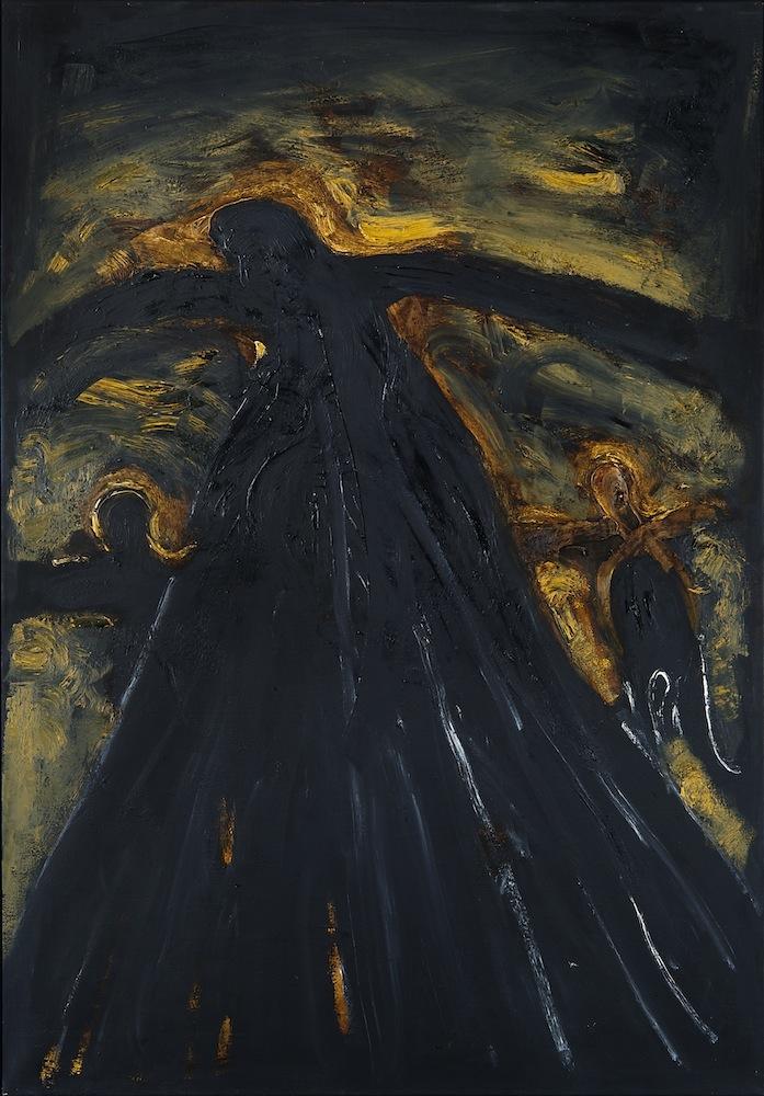 Herbert Falken, Schwarze Madonna, Öl auf Leinwand, 200 x 140 cm, 1983/84