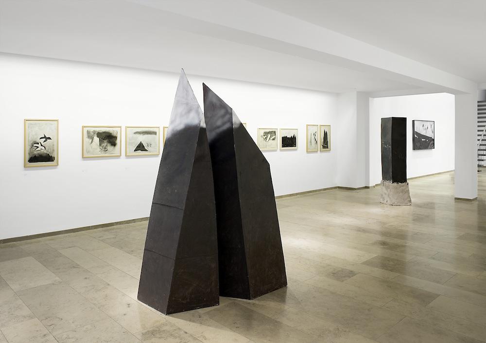 Ausstellungsansicht, Andreas Bindl, Metaphysik der Landschaft, 2008