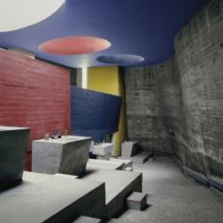 Le Corbusier, Kloster La Tourette, Krypta, Eveux–sur–L'Arbresle, 1960