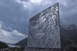 David Barbarino, Maloja (Engadin), 2012, Mischtechnik auf Leinwand, 250 x 200 cm