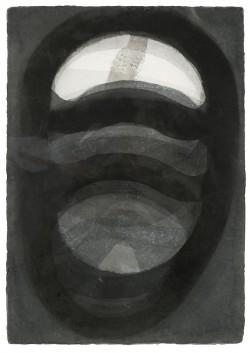 Herbert Falken, Gitterkopf, Aquarell, 100 x 70 cm, 1992/1997