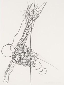 Herbert Falken, Ohne Titel, Kohle auf Papier, 76 x 57 cm, 2009