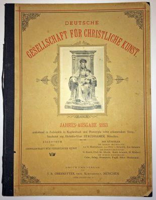 Jahresausgabe, Galerie der DG, 1893, Foto: Galerie der DG