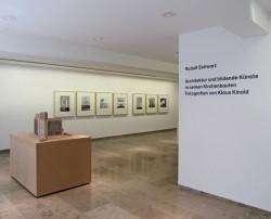 Ausstellungsansicht, Rudolf Schwarz, 2011