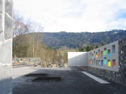 Bernardo Bader, Rene Bechter, Friedhofsneugestaltung Krumbach, Urnenbereich, Foto: Bernardo Bader Architekten