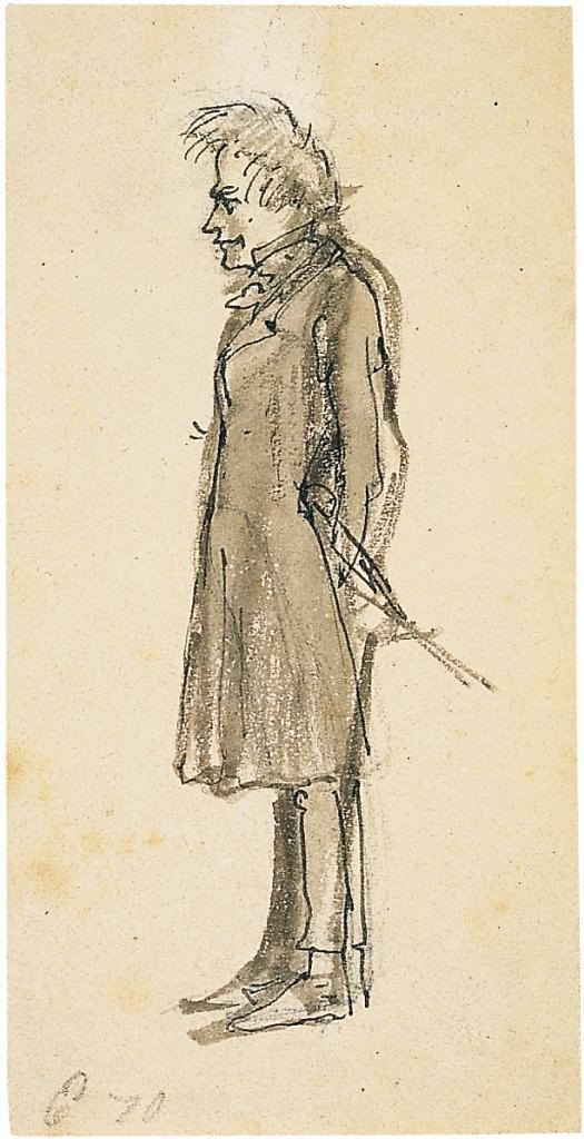 Kierkegaard_Zeichnung Wilhelm Marstrand_1870