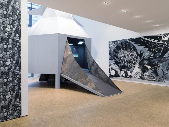 Böhler & Orendt, Sebastian Tröger - Fürchtet euch (nicht)!, Ausstellungsansicht, Galerie der DG - Deutsche Gesellschaft für christliche Kunst, 2017, Foto: Gerald von Foris, (cc) by-nc-nd