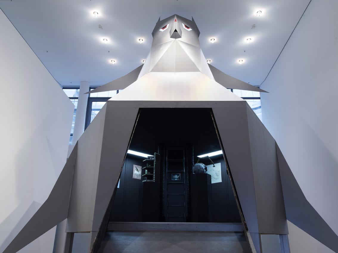 Boehler & Orendt, Sebastian Troeger - Fuerchtet euch (nicht)!, Ausstellungsansicht, Galerie der DG - Deutsche Gesellschaft für christliche Kunst, 2017, Foto: Gerald von Foris, (cc) by-nc-nd