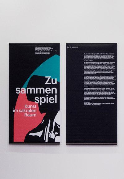 Ausstellungsansicht 'Zusammenspiel' Galerie der DG, 2018. Foto: Gerald von Foris